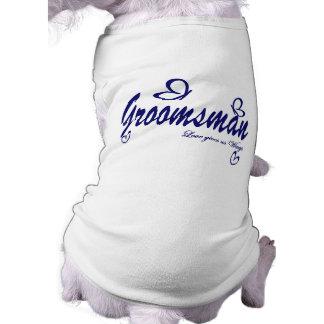 Butterfly Wedding/ Groomsman Sleeveless Dog Shirt