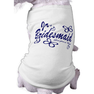 Butterfly Wedding/Jr.Bridesmaid Sleeveless Dog Shirt