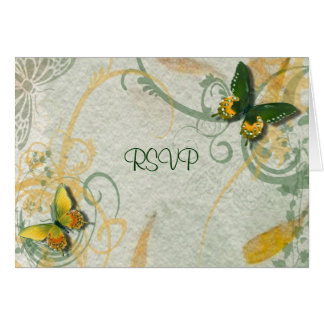 Butterfly Wedding Reception RSVP Card