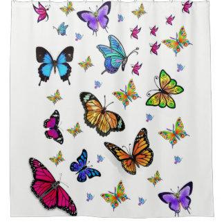 Butterfly white showercurtain shower curtain