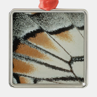 Butterfly Wing Silver-Colored Square Decoration