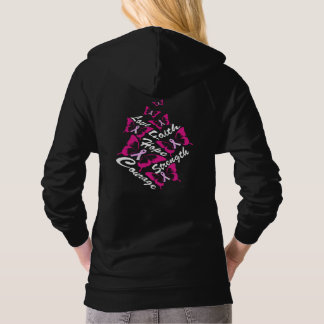 Butterfly Wings Breast Cancer Awareness Hoodie