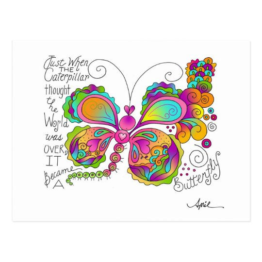 BUTTERFLY WINGS by April McCallum Postcard