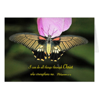 Butterfly with Christian Verse Greeting Card