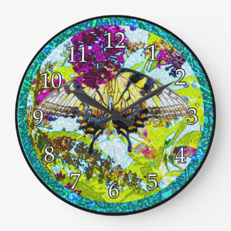 Butterfly with Flower Clock
