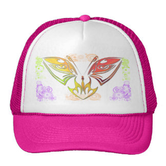 Butterfly with Flowers Hat