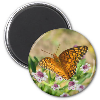 Butterfly with Flowers Magnet