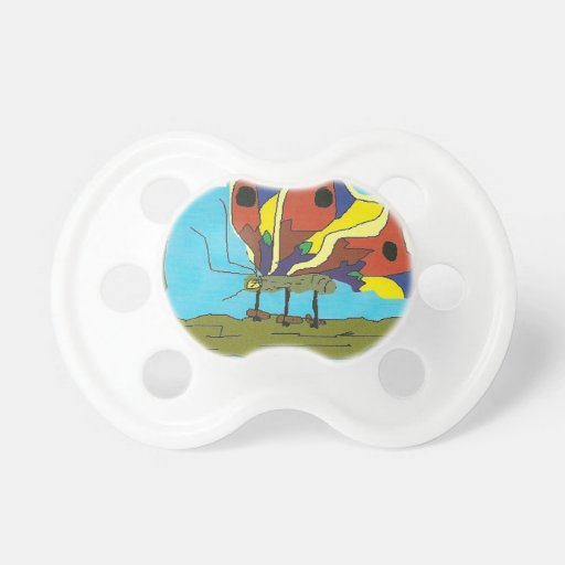 Butterfly with humerous comments on relationships. pacifier
