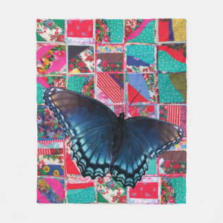 Butterfly with quilt 2016 Fleece Blanket