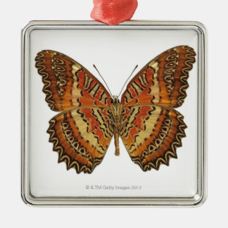 Butterfly with wings spread Silver-Colored square decoration