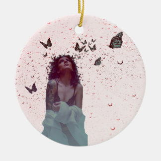 Butterfly Woman Christmas Ornament