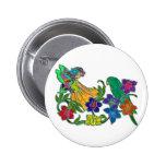 Butterfly Woman Floral & Bird Buttons