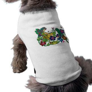 Butterfly Woman Floral & Bird Sleeveless Dog Shirt