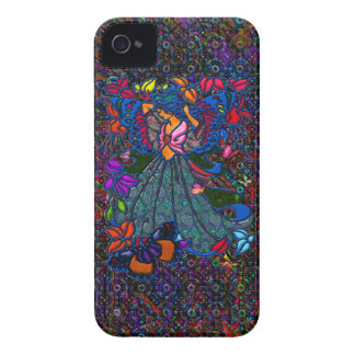 Butterfly Woman in Paisley Circled by Butterflies iPhone 4 Case-Mate Cases