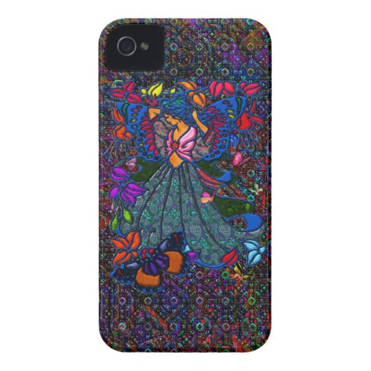 Butterfly Woman in Paisley Circled by Butterflies iPhone