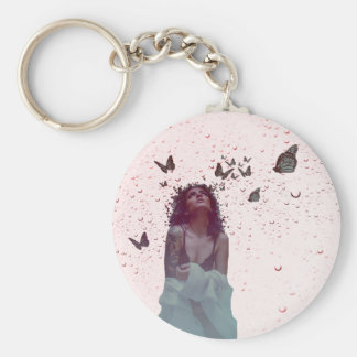Butterfly Woman Key Ring