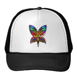 Butterfly Woman one Print Mesh Hat