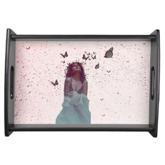 Butterfly Woman Serving Tray