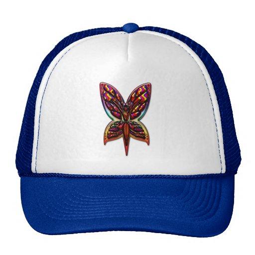 Butterfly Woman three E Print Hats