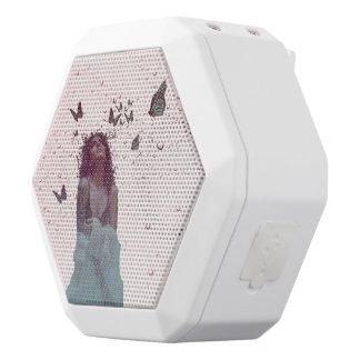 Butterfly Woman White Bluetooth Speaker