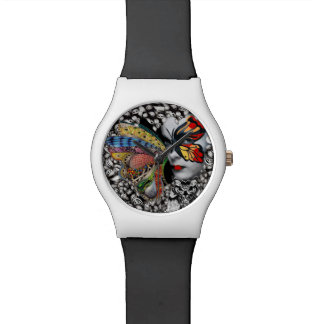 Butterfly woman wrist watch