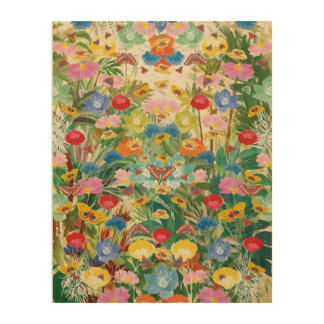 Butterfly Woodland Art Wood Canvas