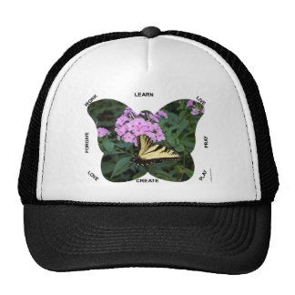 Butterfly Words to Live By Mesh Hat