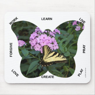 Butterfly Words to Live By Mouse Pad