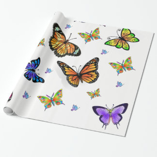 butterfly wrapping gift paper wrapping paper