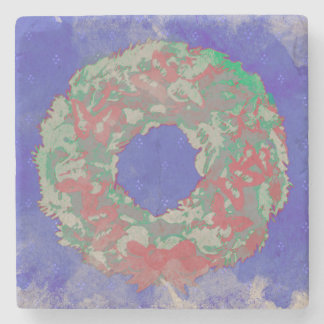 """""""Butterfly Wreath"""" Drinking Coaster (RedGreenBlue)"""