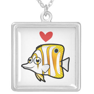 Butterflyfish Love Silver Plated Necklace