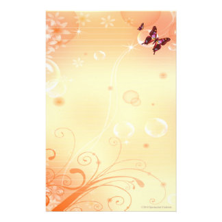 Butterflys and Bubbles Stationary Custom Stationery
