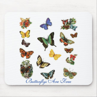 Butterflys Are Free Mouse Mat