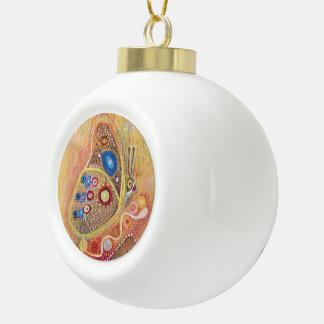 Butterfy painting Ceramic Ball Decoration