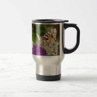 Butterfy Stainless Steel   Travel/Commuter Mug