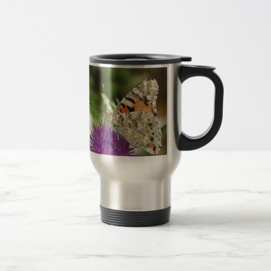 Butterfy Stainless Steel Travel/Commuter Mug