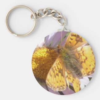 Butterly Magic Basic Round Button Key Ring