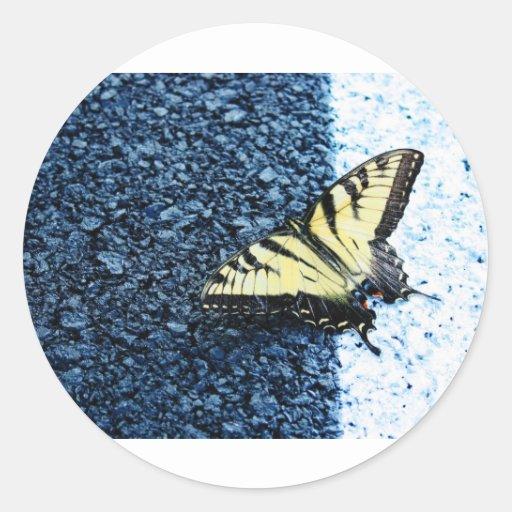 Butterly Round Sticker
