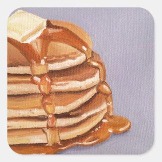 Buttermilk Pancakes Shortstack Breakfast Painting Square Sticker