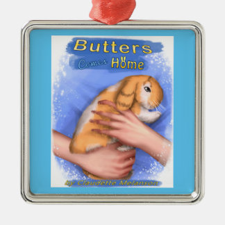 Butters Comes Home Cover Premium Square Ornament