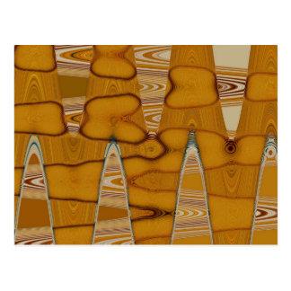 butterscotch abstract design postcard
