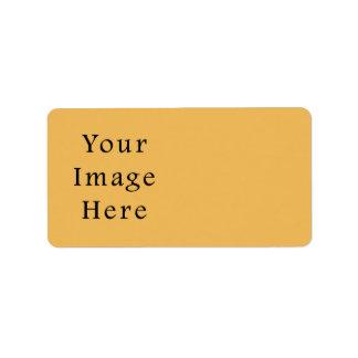 Butterscotch Caramel Yellow Color Trend Template Address Label
