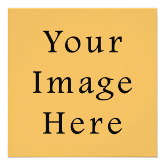 "Butterscotch Caramel Yellow Color Trend Template 5.25"" Square Invitation Card"
