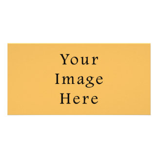 Butterscotch Caramel Yellow Color Trend Template Customized Photo Card