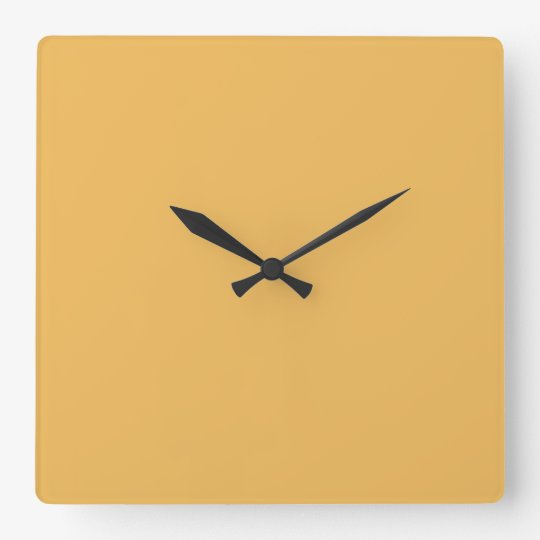 Butterscotch Yellow - Vintage Yellow Template Wall Clocks