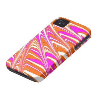 ButterSplotch - Orange & Pink Stripes iPhone 4 Case