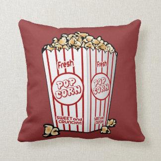 Buttery Popcorn Movie Fan Throw Pillows
