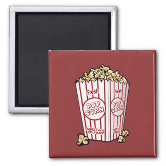 Buttery Popcorn Movie Fan Magnet