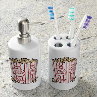 Buttery Popcorn Movie Fan Bath Set