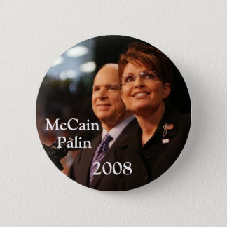 button6, McCain, Palin, 2008 - Customized 6 Cm Round Badge